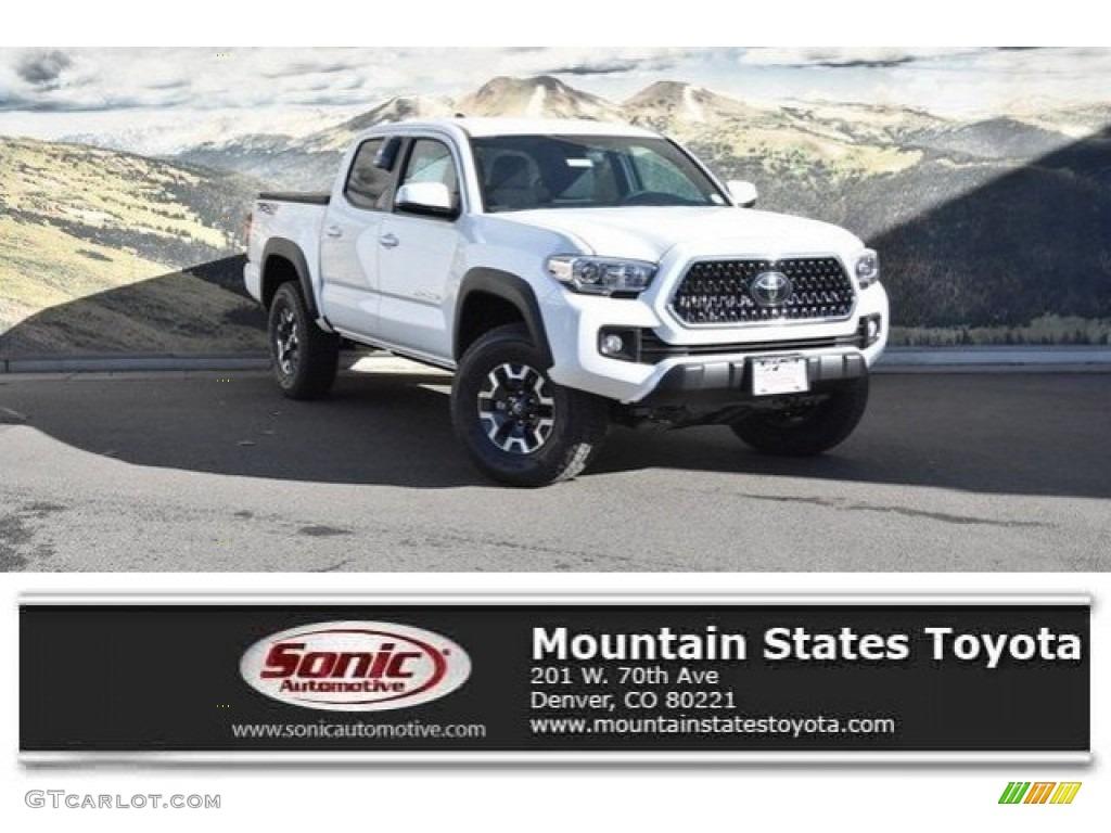 2018 Tacoma Colors >> 2018 Super White Toyota Tacoma Trd Off Road Double Cab 4x4