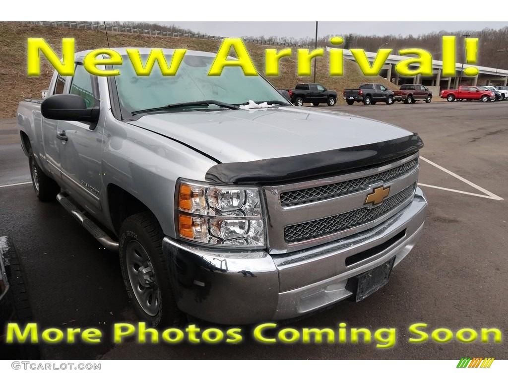 2012 Silverado 1500 LS Extended Cab - Silver Ice Metallic / Dark Titanium photo #1