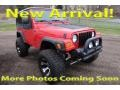 2005 Flame Red Jeep Wrangler X 4x4 #124458654