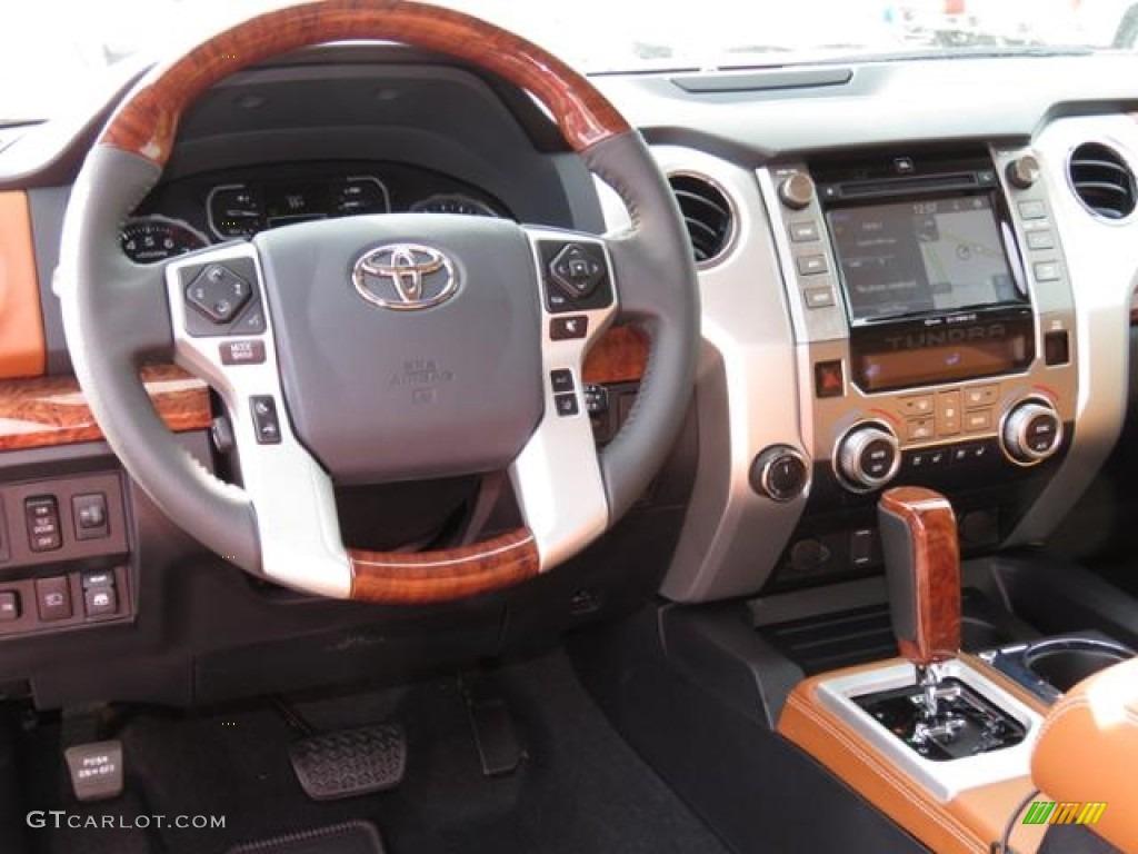 2018 Toyota Tundra 1794 Edition CrewMax 4x4 1794 Edition Black/Brown Dashboard Photo #124496045