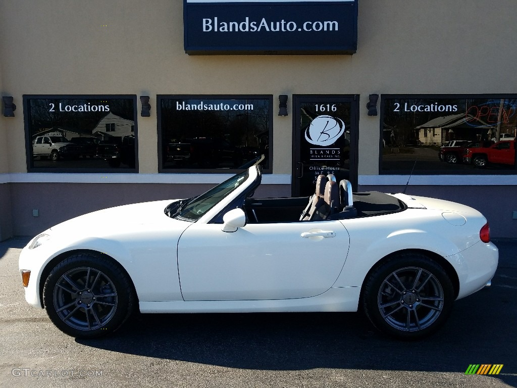 2009 MX-5 Miata Grand Touring Roadster - Marble White / Havana Brown photo #1