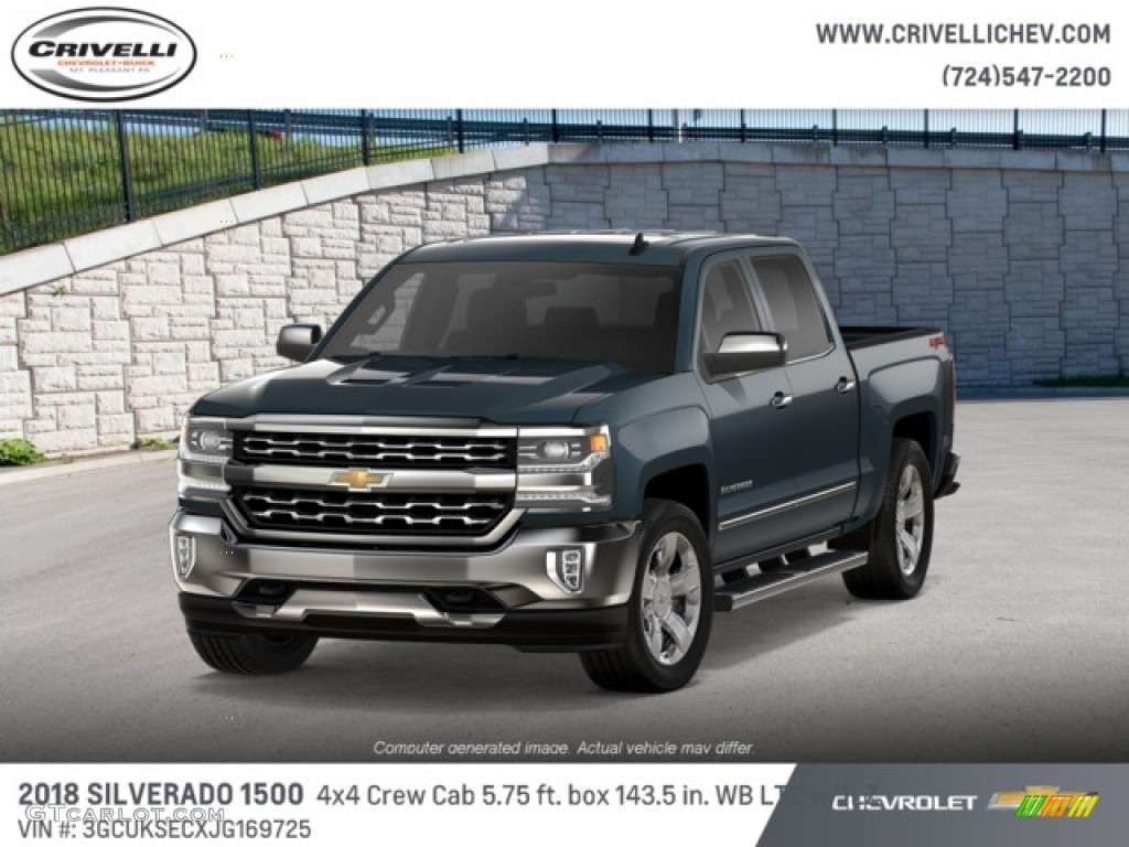 2018 Silverado 1500 LTZ Crew Cab 4x4 - Graphite Metallic / Jet Black photo #1