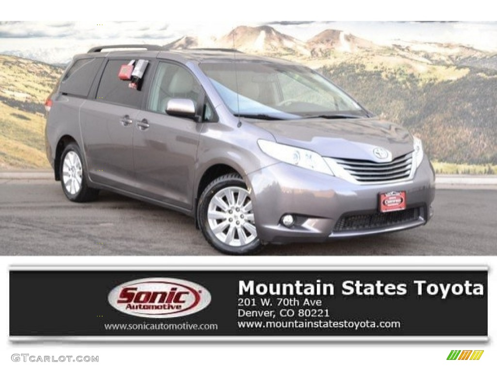 2014 Sienna XLE AWD - Predawn Gray Mica / Light Gray photo #1