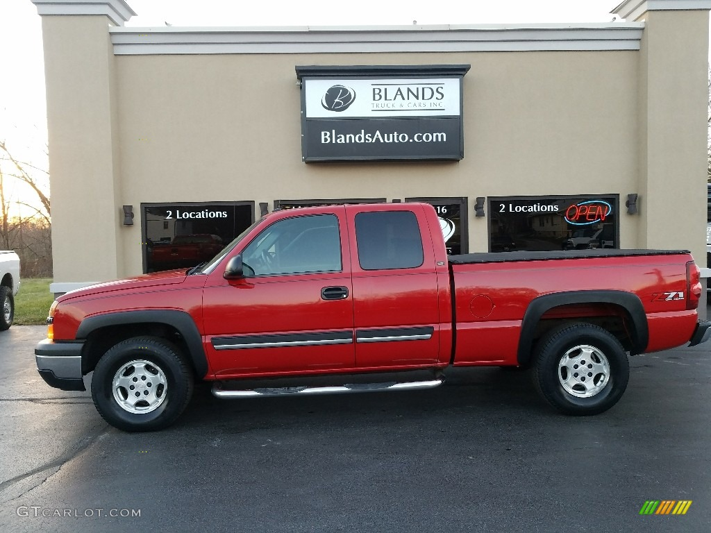 2003 Silverado 1500 LT Extended Cab 4x4 - Victory Red / Dark Charcoal photo #1