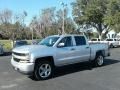 2018 Silver Ice Metallic Chevrolet Silverado 1500 Custom Crew Cab 4x4  photo #1