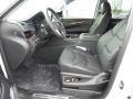 2018 Cadillac Escalade Jet Black Interior Front Seat Photo