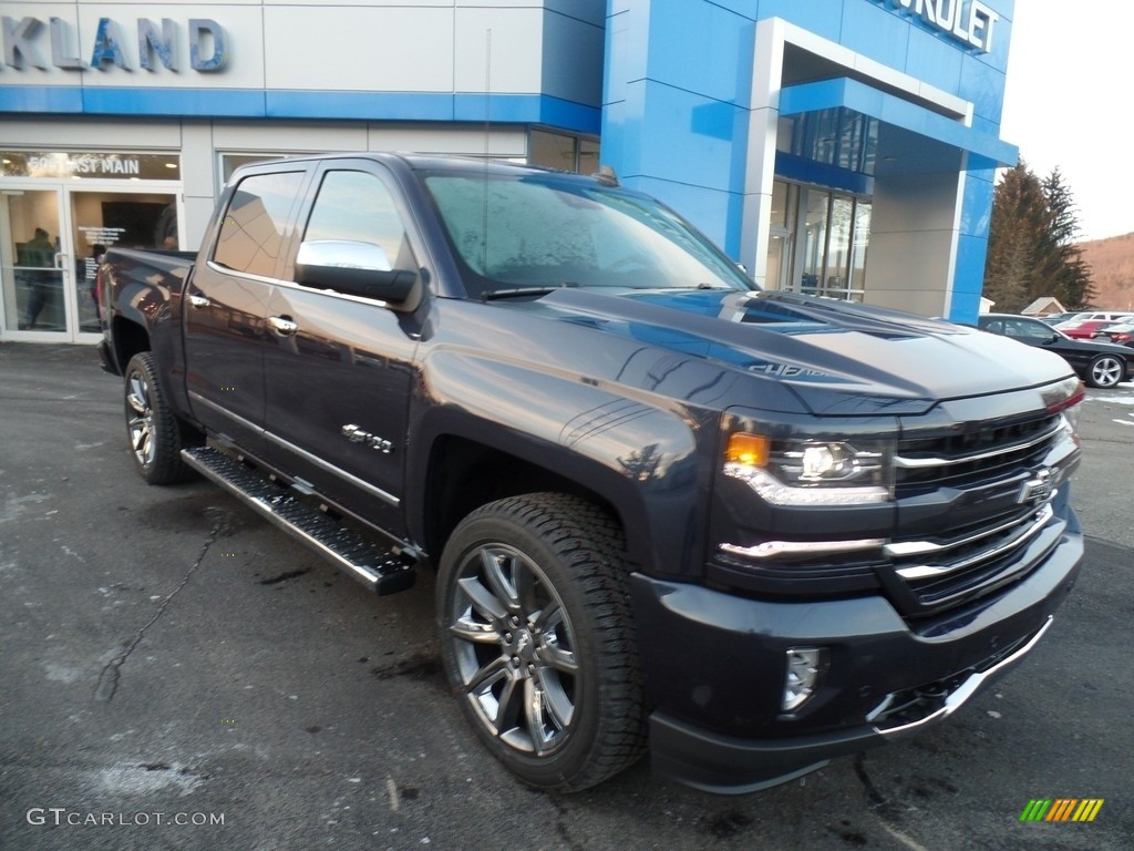2018 Silverado 1500 LTZ Crew Cab 4x4 - Centennial Blue Metallic / Jet Black photo #1