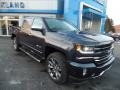 2018 Centennial Blue Metallic Chevrolet Silverado 1500 LTZ Crew Cab 4x4  photo #1