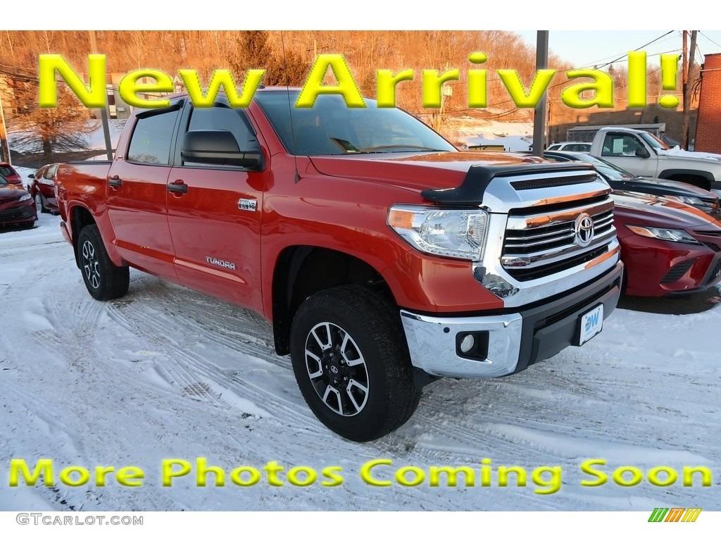2016 Tundra SR5 CrewMax 4x4 - Radiant Red / Black photo #1