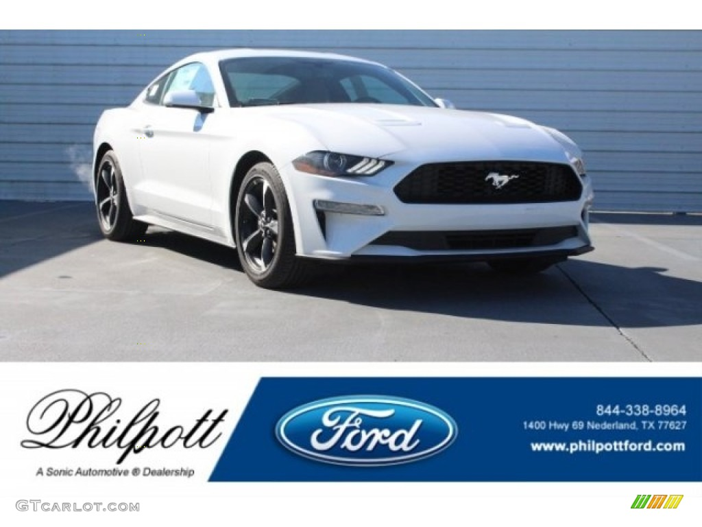 2018 Mustang EcoBoost Fastback - Oxford White / Ceramic photo #1