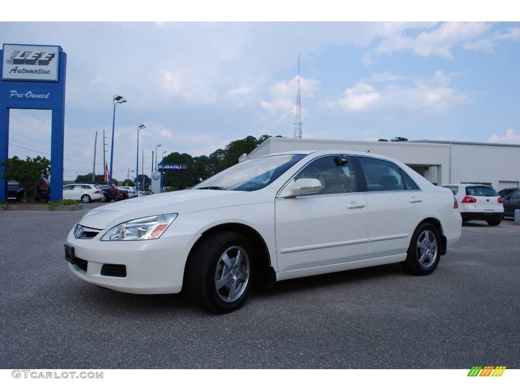 2006 Accord Hybrid Sedan   Premium White Pearl / Ivory Photo #1