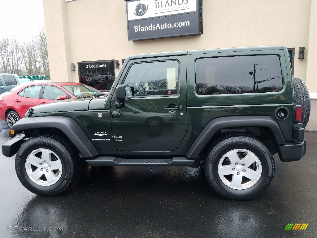 Natural Green Pearl Jeep Wrangler