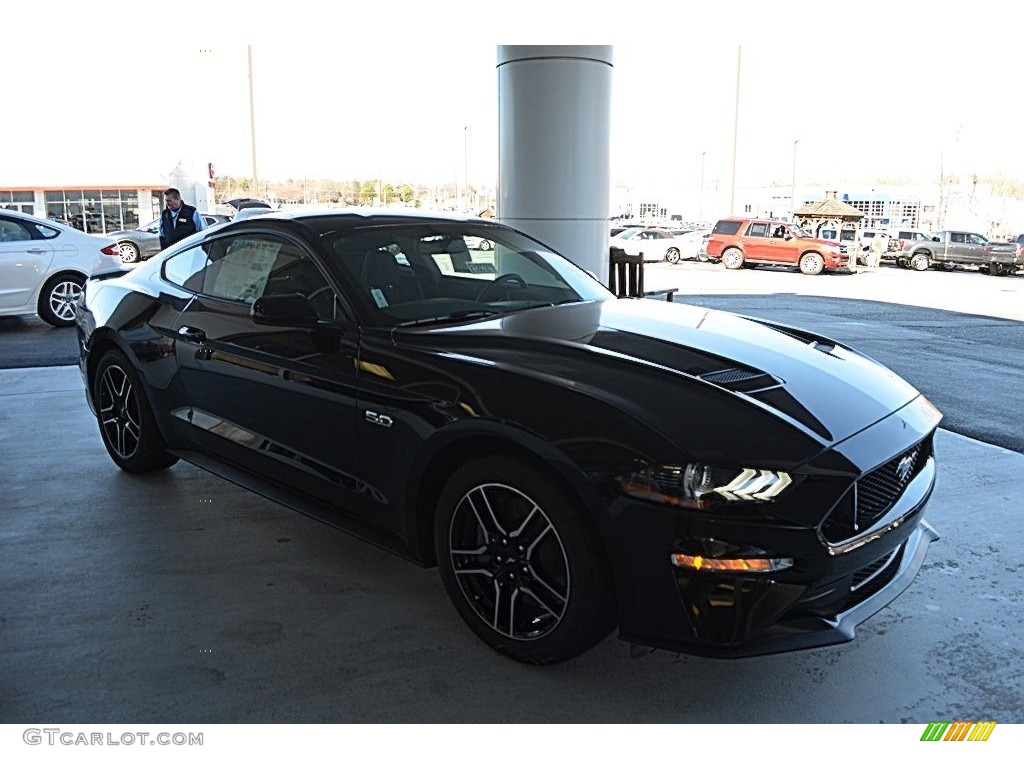 Shadow Black Ford Mustang