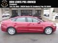 2015 Ruby Red Metallic Ford Fusion SE #124789895