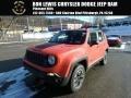 2017 Omaha Orange Jeep Renegade Trailhawk 4x4  photo #1