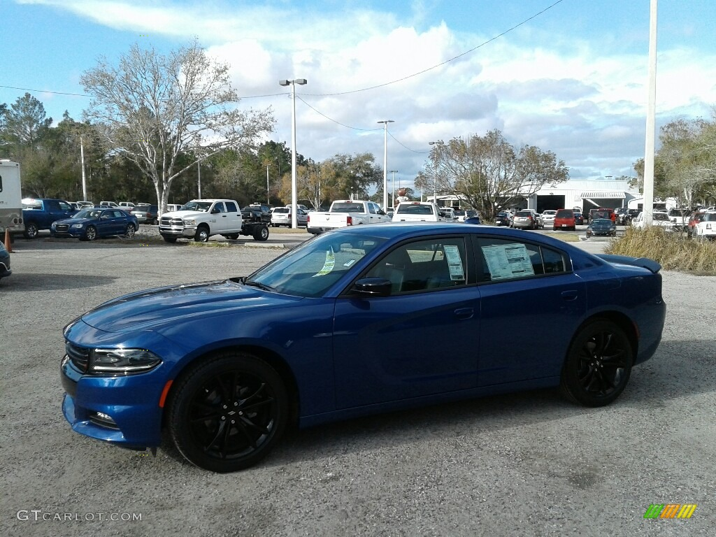 2018 Charger Sxt Plus Indigo Blue Black Photo 1