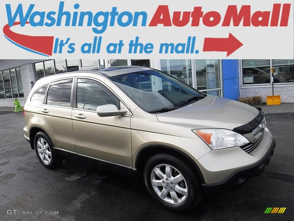 2008 CR-V EX-L 4WD - Borrego Beige Metallic / Ivory photo #1