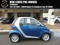 Blue Metallic 2008 Smart fortwo passion coupe