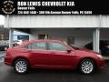Deep Cherry Red Crystal Pearl Coat 2012 Chrysler 200 Touring Sedan