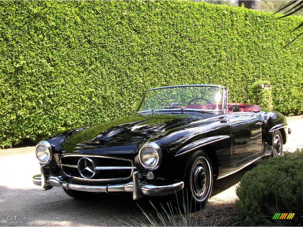 1959 black mercedes benz sl class 190 sl roadster. Black Bedroom Furniture Sets. Home Design Ideas
