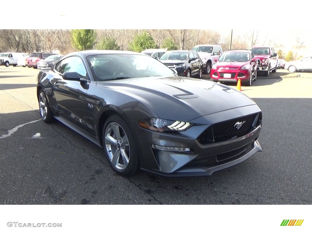 2018 Mustang GT Premium Fastback - Magnetic / Ebony photo #1