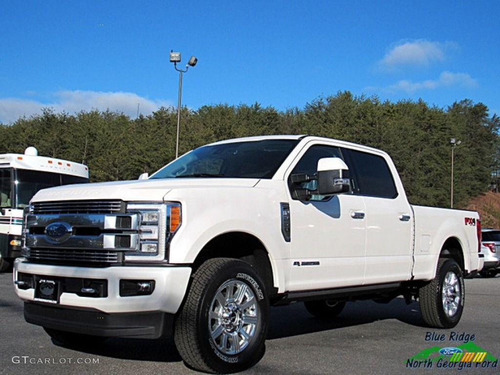2018 White Platinum Metallic Ford F250 Super Duty Limited