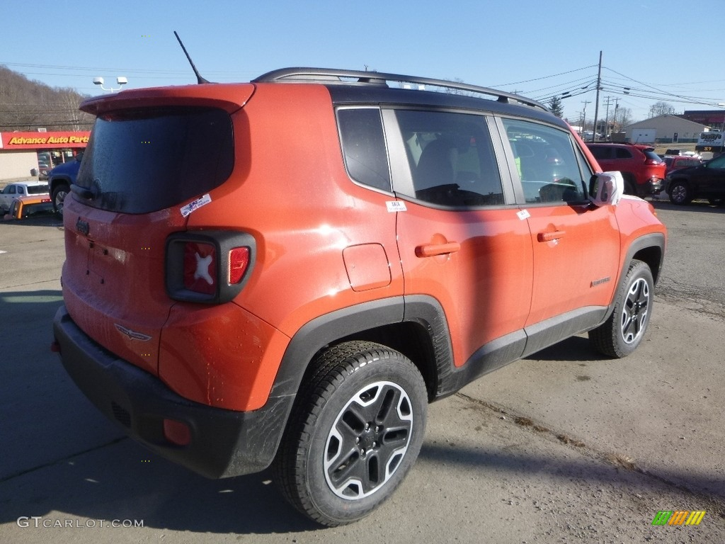 2017 Renegade Trailhawk 4x4 - Omaha Orange / Black photo #5