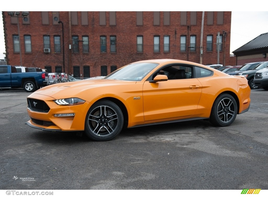 Orange Fury Ford Mustang