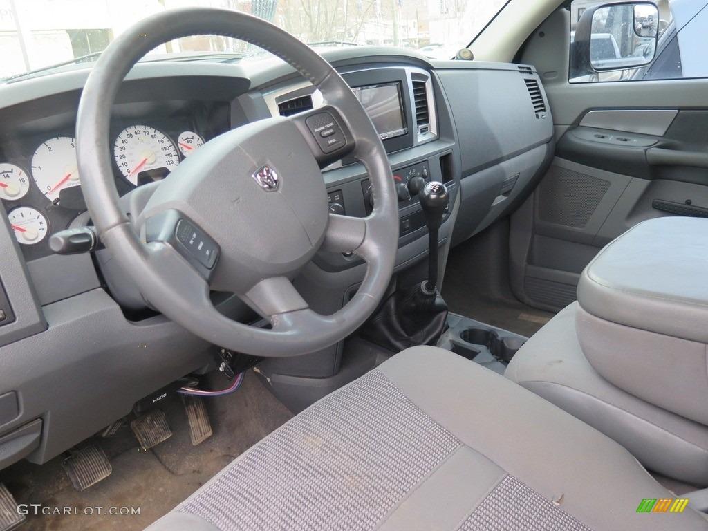 2007 Ram 3500 Big Horn Quad Cab 4x4 Dually - Brilliant Black Crystal Pearl / Medium Slate Gray photo #2