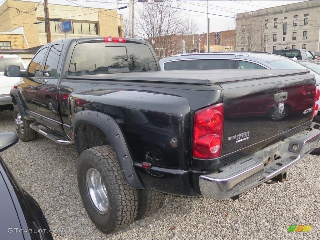 2007 Ram 3500 Big Horn Quad Cab 4x4 Dually - Brilliant Black Crystal Pearl / Medium Slate Gray photo #5