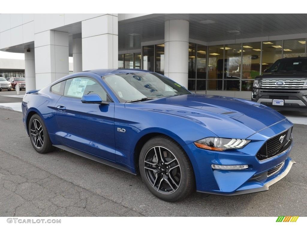 2018 Mustang GT Premium Fastback - Lightning Blue / Ebony photo #1