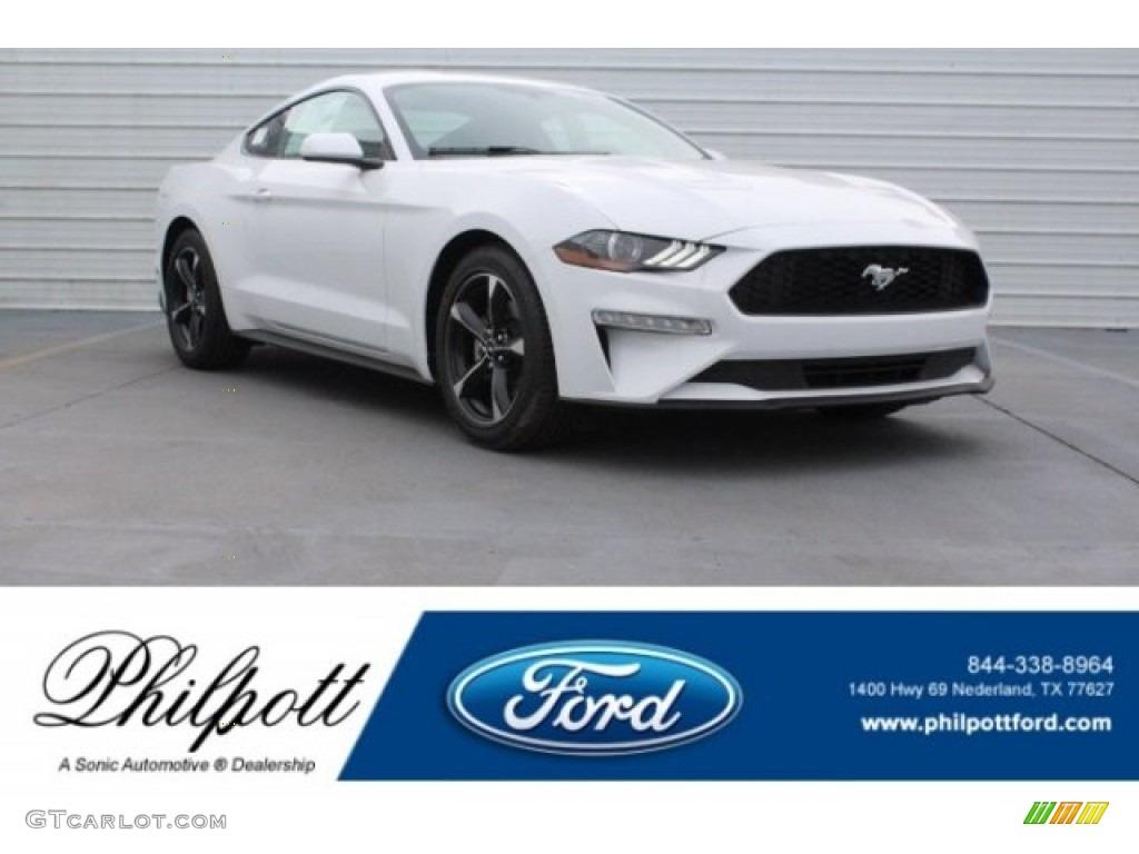 2018 Mustang EcoBoost Fastback - Oxford White / Ebony photo #1