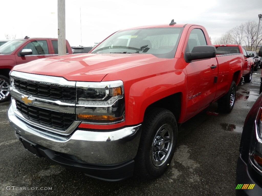 Red Hot 2018 Chevrolet Silverado 1500 LS Regular Cab 4x4 Exterior Photo #125205583
