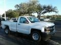 2018 Summit White Chevrolet Silverado 1500 WT Regular Cab  photo #7
