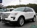 White Platinum 2018 Ford Explorer XLT