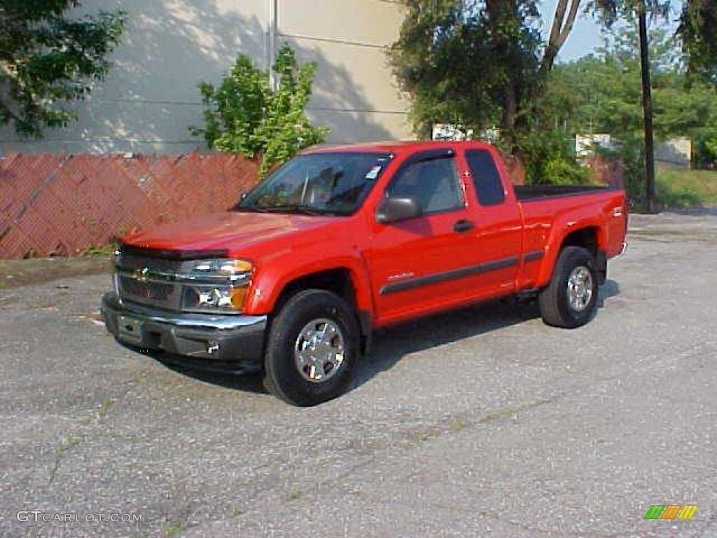 2005 colorado z71 extended cab 4x4 victory red medium dark pewter photo 1