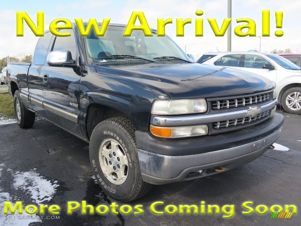 2000 Silverado 1500 LT Extended Cab 4x4 - Onyx Black / Graphite photo #1