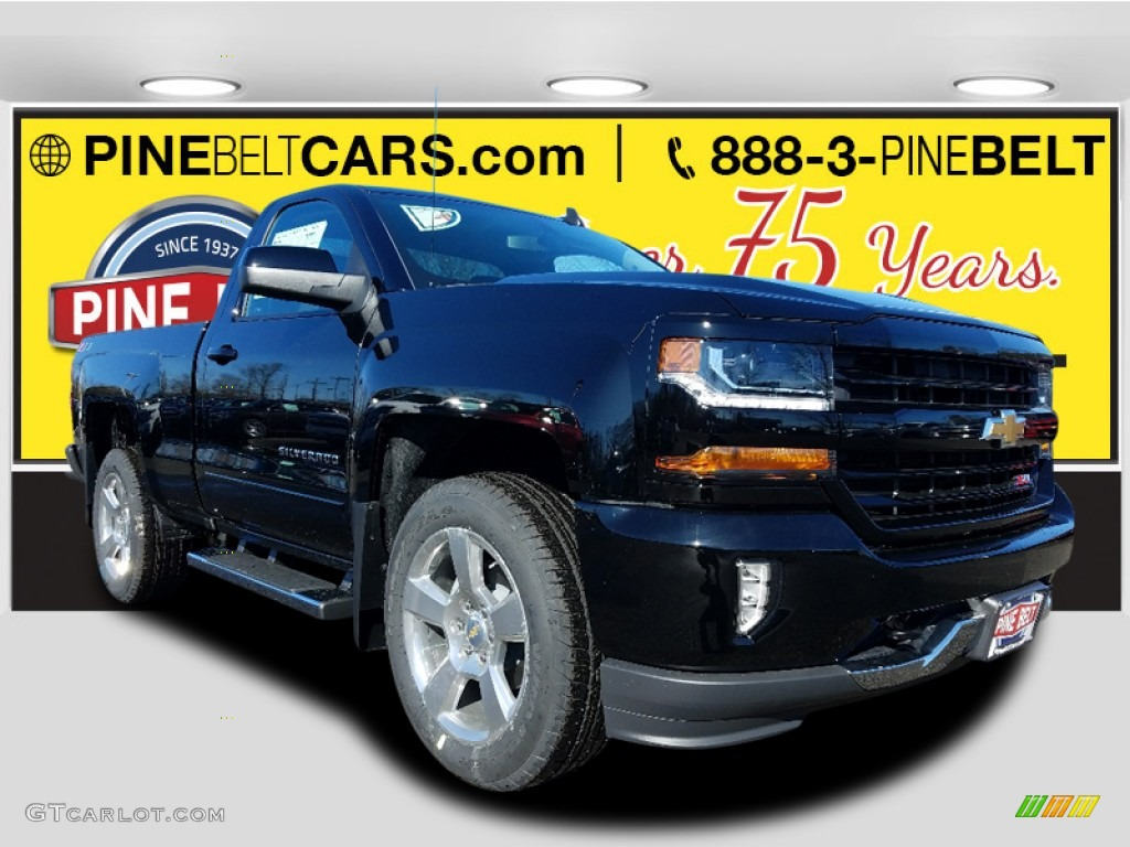 2018 Silverado 1500 LT Regular Cab 4x4 - Black / Jet Black photo #1