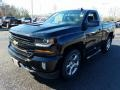 2018 Black Chevrolet Silverado 1500 LT Regular Cab 4x4  photo #2