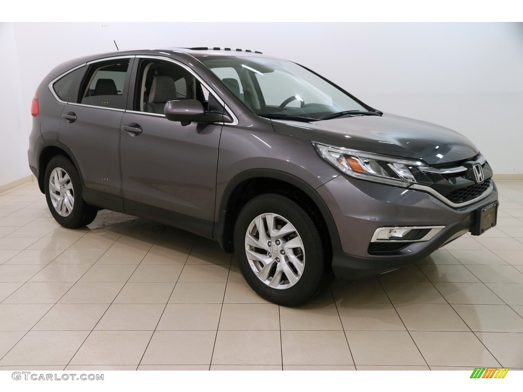 2015 CR-V EX - Modern Steel Metallic / Gray photo #1