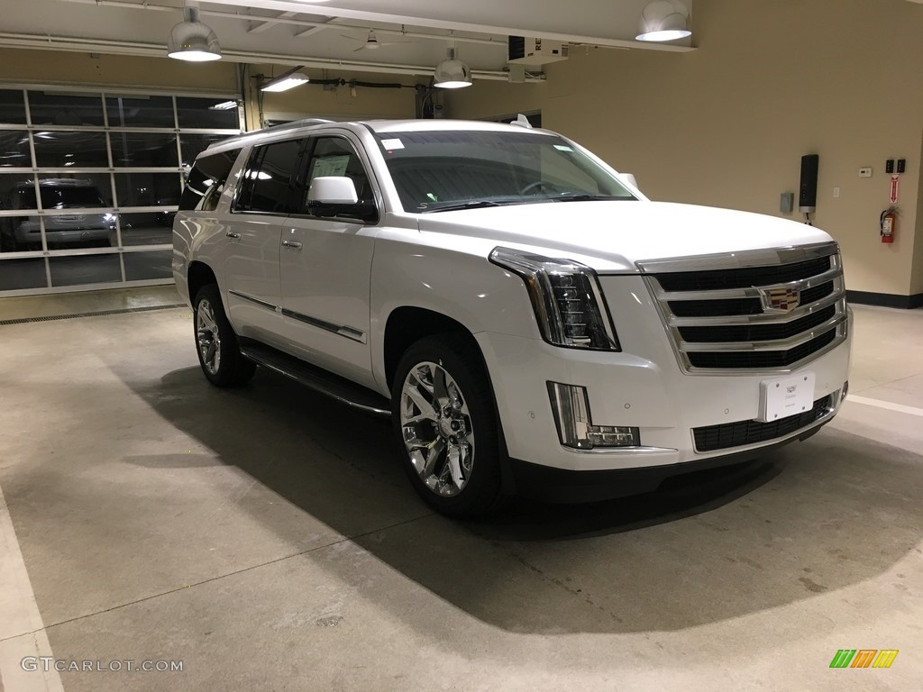 2018 Crystal White Tricoat Cadillac Escalade Esv Luxury 4wd