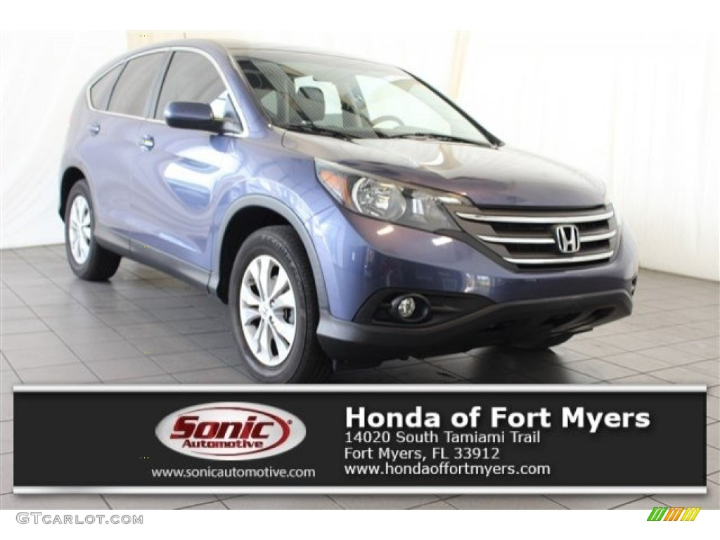 2013 CR-V EX - Twilight Blue Metallic / Beige photo #1