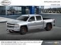 2018 Silver Ice Metallic Chevrolet Silverado 1500 LTZ Crew Cab 4x4  photo #2