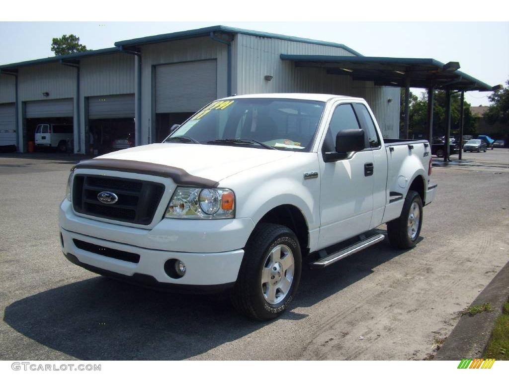 2007 oxford white ford f150 stx regular cab 12519084 photo 3 car color galleries. Black Bedroom Furniture Sets. Home Design Ideas