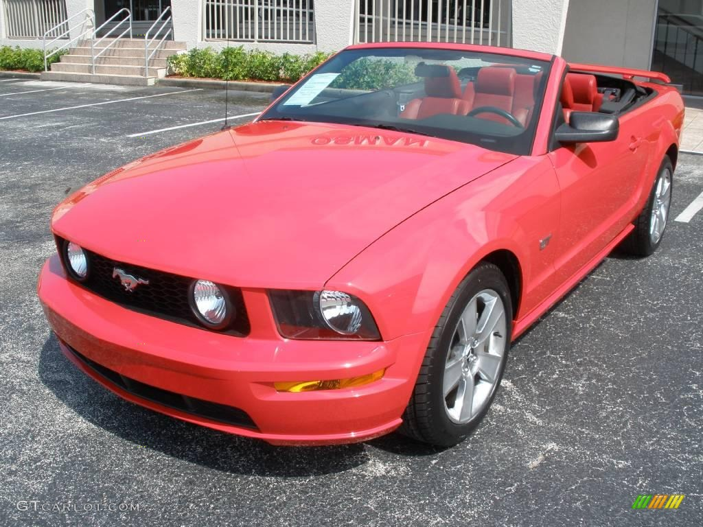 2007 Mustang GT Premium Convertible - Torch Red / Black/Red photo #1