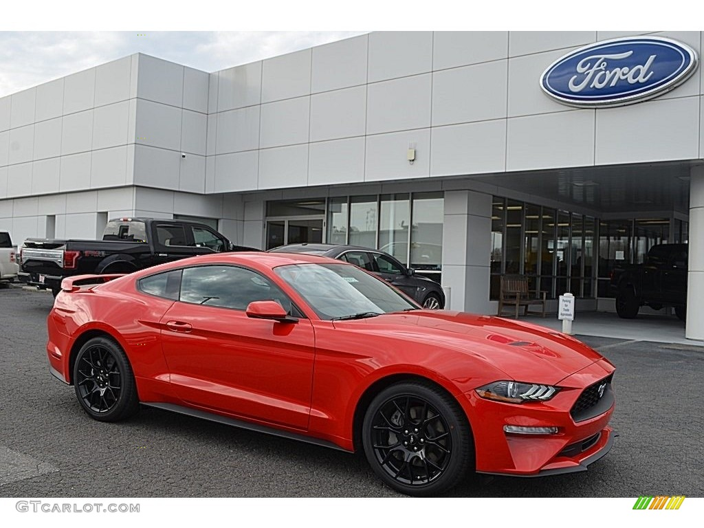 Race red ford mustang ford mustang ecoboost fastback