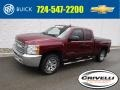 2013 Deep Ruby Metallic Chevrolet Silverado 1500 LS Extended Cab 4x4 #125479045