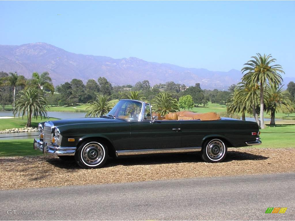 1969 green mercedes benz s class 280se cabriolet 12521595 for Mercedes benz s class colours