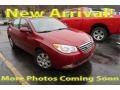 2008 Apple Red Pearl Hyundai Elantra GLS Sedan #125521284
