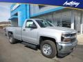 2018 Silver Ice Metallic Chevrolet Silverado 1500 WT Regular Cab 4x4  photo #1